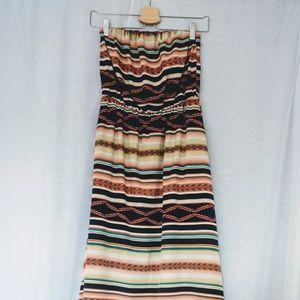Strapless flowy dress
